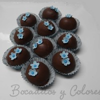 Something Blue Truffles for a bridal shower
