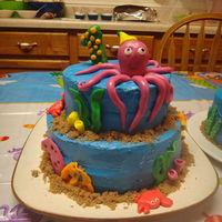 Under The Sea 1St Birthday Cake I made this under the sea cake for my sons 1st birthday. he loved it!