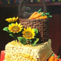 Country Chick  this Cake was designed for a 60th birthday celebration for a very important lady! She loves the simple country life! The bottom cake is a...