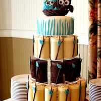 You And I The cake topper: The owls are made out of Modeling chocolate. The keepsake cake is a delicious carrot cake! The individual desserts are two...