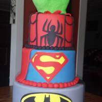 Comic - Super Hero Birthday Cake I did not create the design this was given to me to re-create. Thanks for looking :)
