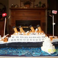 Titanic This was made for a 9 year old boys birthday that is in love with the TITANIC....9/25/2010