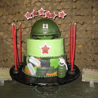 Camo Theme Birthday Cake For Laser Tag & Vidoe Game Truck Buttercream ice with fondant accents