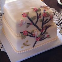 Ivory Bridal Shower Cake