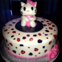 Hello Kitty Hello kitty made out of gumpaste and fondant. print hand painted