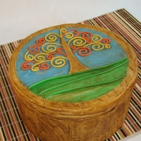 "Tree Of Life 8"" Round covered in fondant"