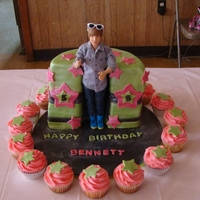 My First Icing Smiles Cake This cake was made for a precious little girl who was diagnosed with Cystic Fibrosis. She LOVES Justin Beiber, so the cake was made to look...