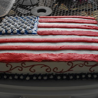 Happy Birthday America This was a quick WASC with raspberry filing cake that I did for the 4th of July. We put sparkler candles on it and the grandkids sang Happy...
