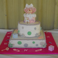 Baby Shower Cake For My Step-Daughter This is my first real cake that I made for a surprise baby shower for my step-daughter's 3rd baby. We had the party at a pool on Labor...