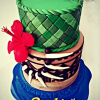 Made This Two Tier Cake For A Friends 30Th Birthday Cake Represents Where Shes From The Beautiful Samoa Everything Is Handmade By Me  Made this two tier cake for a friend's 30th birthday. Cake represents where she's from - the beautiful Samoa! Everything is...