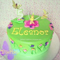 Tinkerbell Tinkerbell cake for Eleanor's 5th birthday. This cake was very sparkly, although the photos don't give it justice. Had fun making...