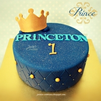 Princeton Turns One!! Made this cake on the weekend for a boy named PRiNCETON!! First time doing this quilting technique, so had a lot of fun learning!! TFL and...