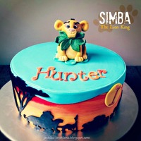 Lion King {Simba}  Made this cake yesterday for Hunter's 1st birthday! First time making Simba and designing a cake with a Lion King theme. TFL and...