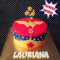 Wonder Woman Made this Wonder Woman themed cake for Lauriana's 5th birthday last weekend. Had fun making this cake because it's my first girl...
