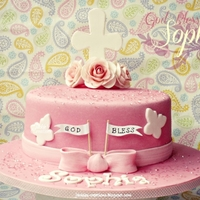 Pink & White Baptism Cake For Sophia Made this cake for Sophia's baptism on the weekend. Accompanied by three dozen cupcakes: chocolate, red velvet and vanilla bean. TFL...