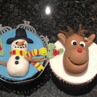 Small Cake Christmas cupcakes chocolate flavour :0)