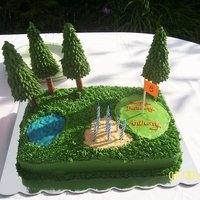 Golf Course Cake For my son's 8th bday.