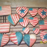 4Th Of July Cookies These are sugar cookies, but the frosting is usually too sweet for me. so this is just a colored powered sugar glaze.