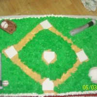 Baseball Cake I made this for my son's softball party. sculpted out of fondant/gumpaste combo. I havent taken any classes, so any constructive...