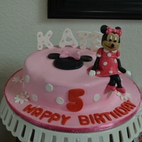 Minnie Mouse Cake By Cake Art Republic Hand-molded minnie mouse cake topper