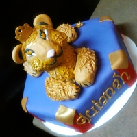Ms. Leo I did a red velvet cake and the theme was Queen she lion for the sign of the Leo