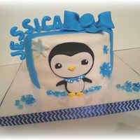 The Customer Wanted A Penguine Cake So I Used The Penguine From Octonauts Minus His Hat And First Aid Kit I Really Like How He Came Out The customer wanted a penguine cake so I used the penguine from Octonauts minus his hat and First Aid Kit I really like how he came out