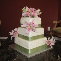 Square Wedding Cake jetaimecakes.blogspot.com