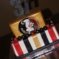 Florida State Florida State cake I hand painted the logo :)