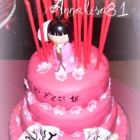 Oriental Cake  This is my first cake with marshmallow fondant. This is an 18th birthday cake for my sister ^_^ It is covered with icing (here in Italy is...