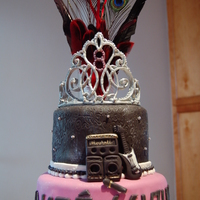 Pop Rock Princess Cake   For a princess that rock! Royal icing tiara, fondant decorations.