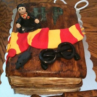 Harry Potter Book   My first book cake.
