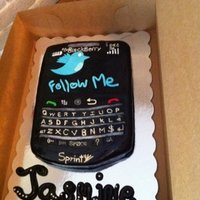 Blackberry Phone   My first blackberry phone cake. Covered in Satin Ice fondant.