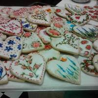 Home Made Sugar Cookies With Royal Icing And Handpainted   *Home made sugar cookies with royal icing and handpainted.