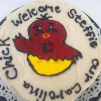 Carolina Chick Cake   *Red Velvet cake ordered for a pregnant couple that are HUGE SC fans expecting a baby girl