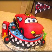 Lightning Mcqueen Cars cake for a special little man ... White cake with yummy buttercream