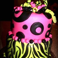 Zebra Madness Really fun Birthday cake .... I have always wanted to try a zebra print one .. I think it turned out quite well !