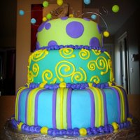 Green   Funky cool Cake