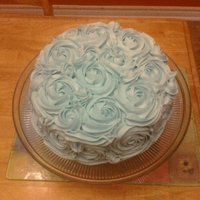 Blue Rose 1M Cake Was in the mood for cake and I want to do one with a little color. The blue was a very pretty shade. Pic quality not the greatest, was...