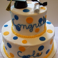 Wvu Graduation! Gold and Blue polka dots!
