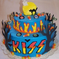 Kiss Halloween birthday with a twist of KISS rick.