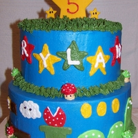 Super Mario Brothers 2 tier round Super Mario Brothers theme.