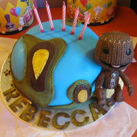 Little Big Planet Little Big Planet Triple Layer Vanilla Cake (slight carving was needed on this one!), Sackboy is a gift to the Birthday Girl!