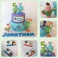 Monster University Birthday Cakethe Figurine Made Out If Fondant And I Used Edible Image To Make Id Cardmu Logo And Happy Birthday Signth Monster University birthday cake,the figurine made out if fondant and I used edible image to make id card,Mu logo and happy birthday sign....