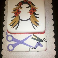 Hairdresser Cake I had fun doing this cake.