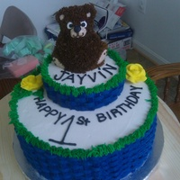 Little Bear Blue This cake was for my girlfriends nephew. I think it turned out ok!