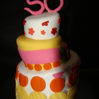 50Th Birthday Turvy Cake
