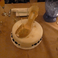 Glitter Gold Shoe Gumpaste shoe with edible gold glitter