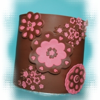 Brown And Pink Birthday Cake TFL