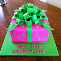 Pink & Green Present From Design A Cakes & Cupcakes *Excuse the bad photo, only 1 I got.