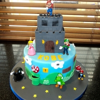 Mario & Lugi Castle This cake was a fun one, all cake except for figures :)